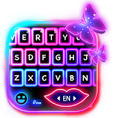 Multi Color Neon Keyboard Theme