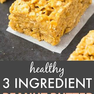 3 Ingredient No Bake Peanut Butter Corn Flake Crunch Bars.