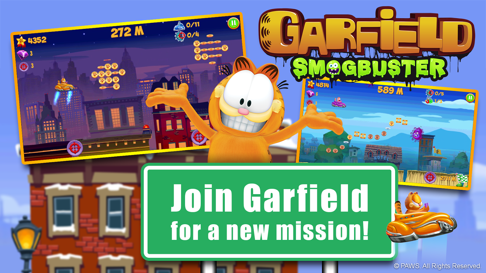Garfield Smogbuster- screenshot