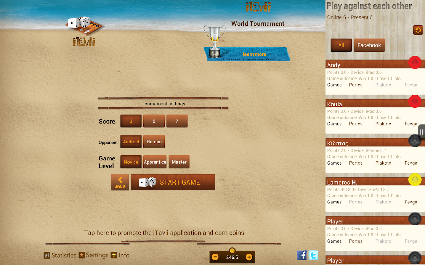 iTavli-All Backgammon games- screenshot