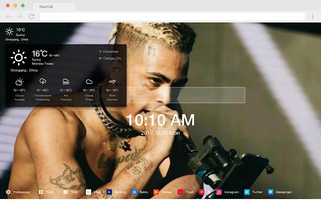 XXXTentacion Pop 4K HD New Tabs Theme