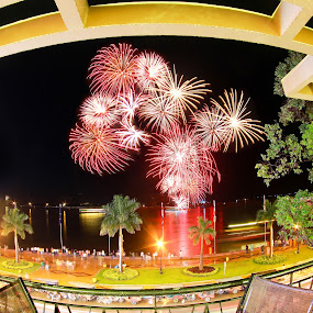 Phnom Penh at the night time.  by Rechard Sniper - Abstract Fire & Fireworks
