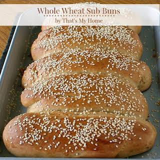 Whole Wheat Sub Buns.