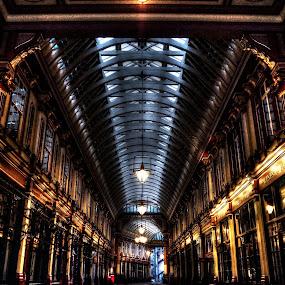 by Jade Newman - City,  Street & Park  Markets & Shops ( london, hdr, dusk, leadenhall market )