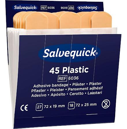 Plåsterrefill 6036 plast 6x45f