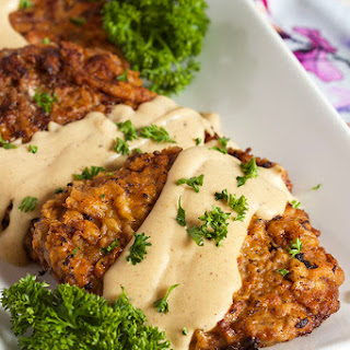 Easy Chicken Fried Steak with Country Gravy.