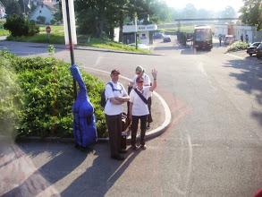 Photo: Wir nehmen auch die Autostöppler in Härkingen mit