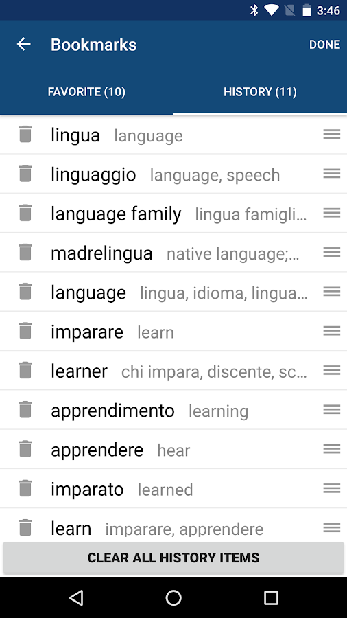 Italian English Dictionary & Translator Free- screenshot