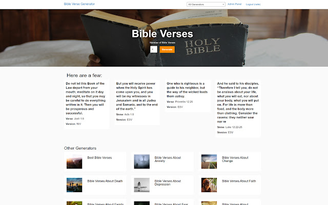 Bible Verse Generator