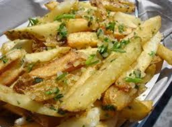 Baked Garlic Fries Recipe