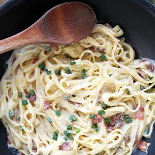 Healthier Carbonara Pasta