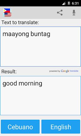 Cebuano English Translator Pro Screenshot
