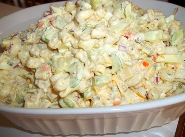 Refrigerate to chill, at least a few hours.  If you like a mac salad that...
