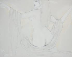 """Photo: Untitled2, sketch, 24"""" x 30"""", graphite on stretched canvas"""