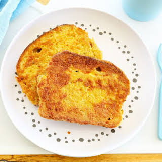 Sourdough Eggy Bread with Turmeric and Sour Cream.