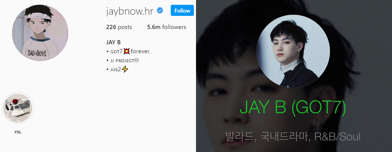 got7 jay b melon instagram