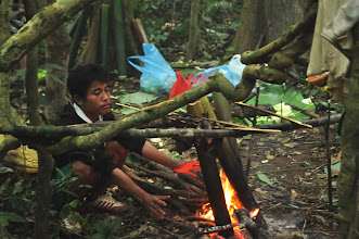 Photo: Bamboo cooking-3 Days Nam Ha Jungle Camp in Luang Namtha, Laos