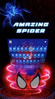 screenshot of Amazing Spider Keyboard Theme