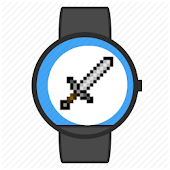 Retro pixel game watch face