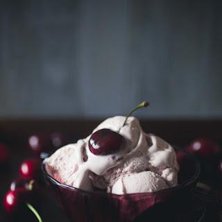 No Churn Cherry Amaretto Ice Cream Recipe