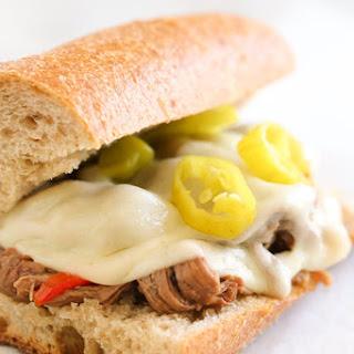 Slow Cooker Italian Beef Hoagies.