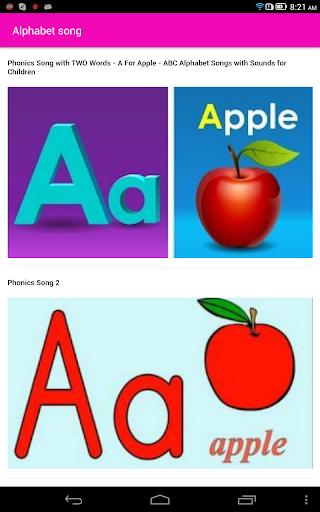 Alphabet songs for kids