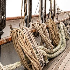 Ropes by Richard Michael Lingo - Artistic Objects Other Objects ( artistic objects, tall ship, ropes, texas, corpus christi,  )