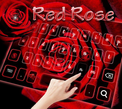 Romantic rose Keyboard theme screenshots 9