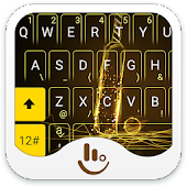 Shiny Golden Cricket Keyboard Theme