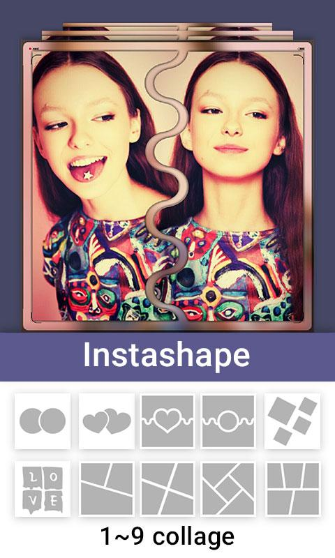 Insta Square Shape  Snap Pic: captura de tela