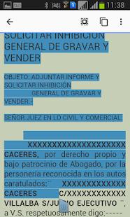 Escritos Judicial Paraguay - náhled