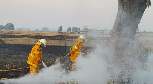 Firefighters at work during the Boggabri fire.