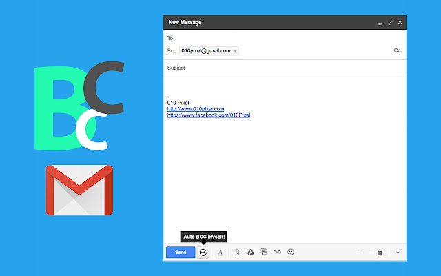 Gmail automatic BCC me by 010Pixel