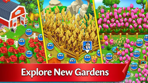 Solitaire Garden - TriPeaks Story android2mod screenshots 3