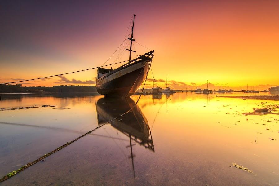 Ship Reflection by Dek Seplo - Transportation Boats (  )