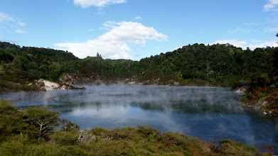 Photo: Frying Pan Lake is the world's largest hot spring with an average water temperature of 131 degrees. The lake was created when Mount Tarawera erupted on June 10, 1886.