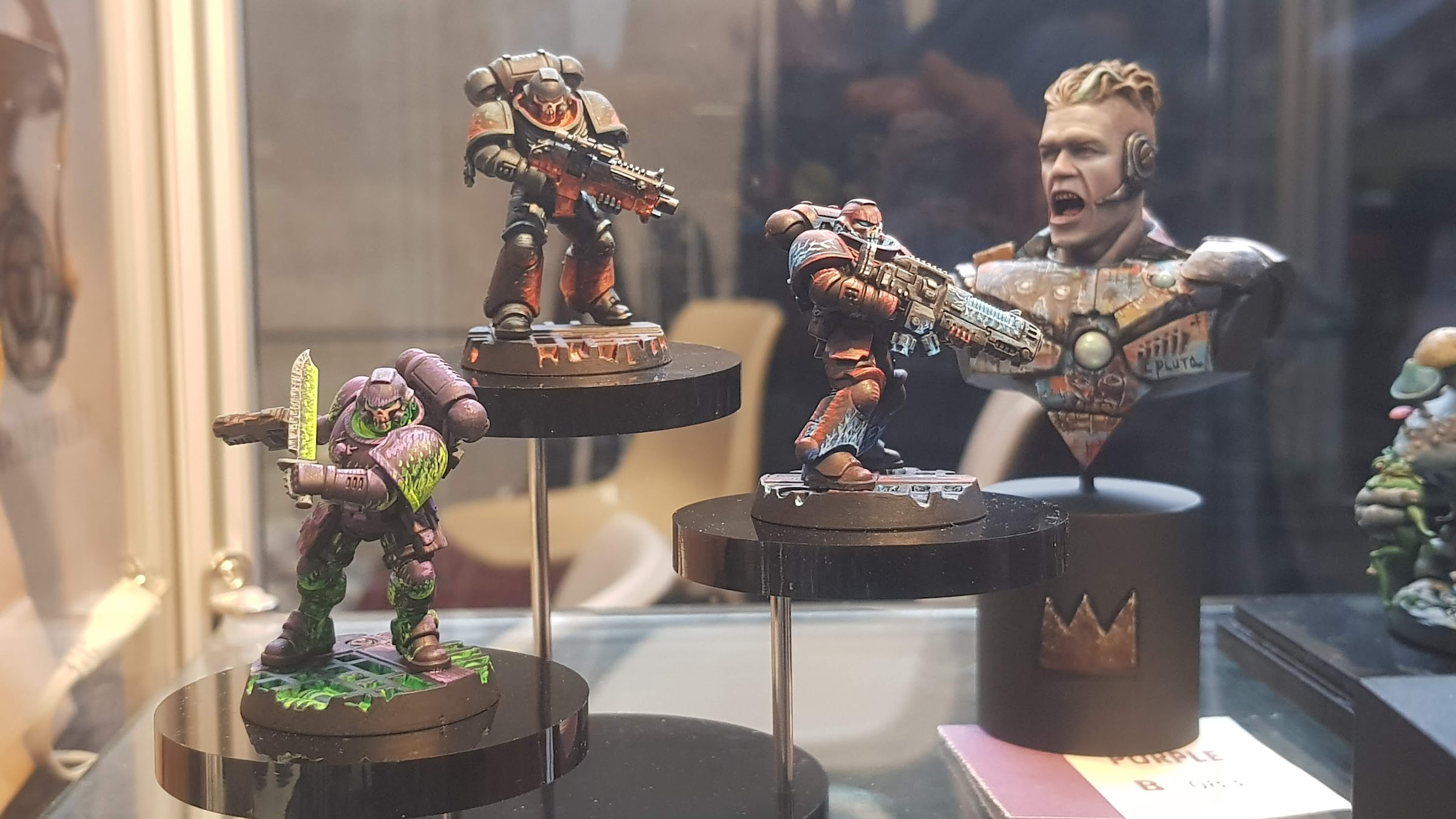 Some of the entries in the painting competition