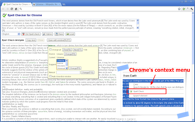 Spell Checker Chrome Extension