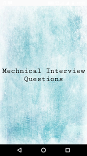 Mechanical Interview Questions - náhled