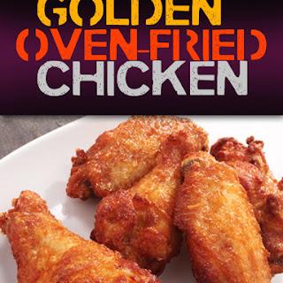 Golden Oven-Fried Chicken.
