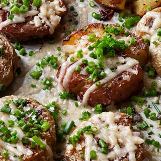 Parmesan Chive Smashed Potatoes.