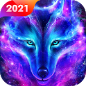 Galaxy Wolf Live Wallpaper Themes icon