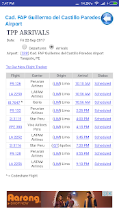 Peru Airports Flight Time - náhled