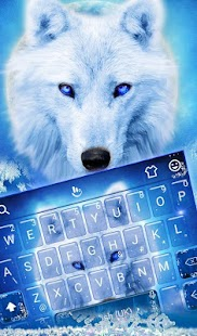 Winter Ice Cool Wolf Keyboard Theme - náhled