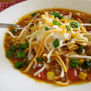 Crock Pot Taco Soup.