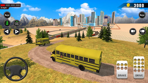 Offroad School Bus Driving: Flying Bus Games 2020 apkpoly screenshots 11