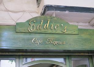 Photo: 13.10.08LaValette : enseigne resto ''Eddie's''Café Régina, square République