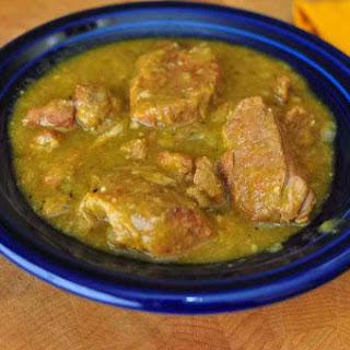 Slow Cooker Chili Verde (Green Pork Chili).