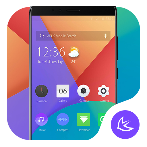 Purple & Red Colorblock - APUS Launcher theme file APK for Gaming PC/PS3/PS4 Smart TV