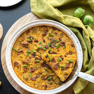 Crustless Bacon Brussels Quiche